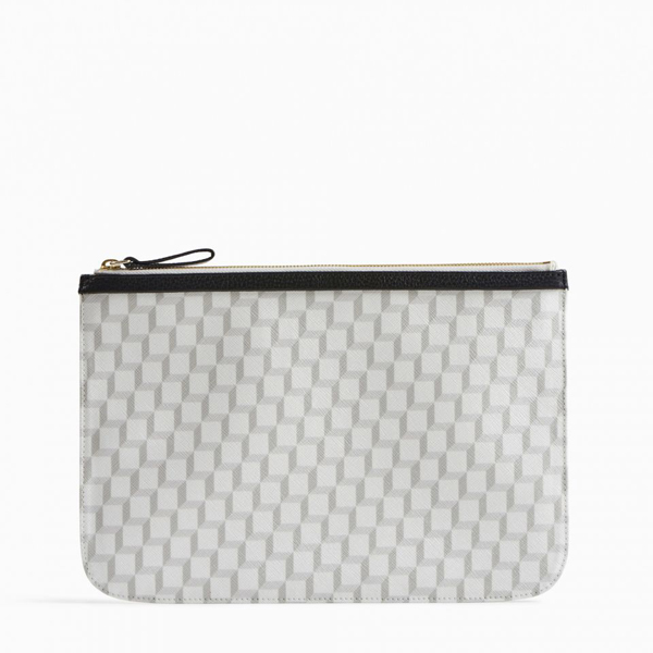 White PIERRE HARDY PERSPECTIVE CUBE LARGE POUCH Factory Outlet