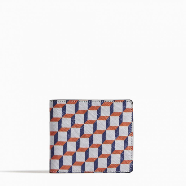 White and blue PIERRE HARDY PERSPECTIVE CUBE WALLET Factory Outlet
