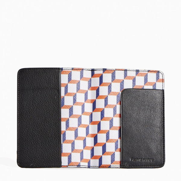 White and blue PIERRE HARDY PERSPECTIVE CUBE PASSPORT HOLDER Factory Outlet