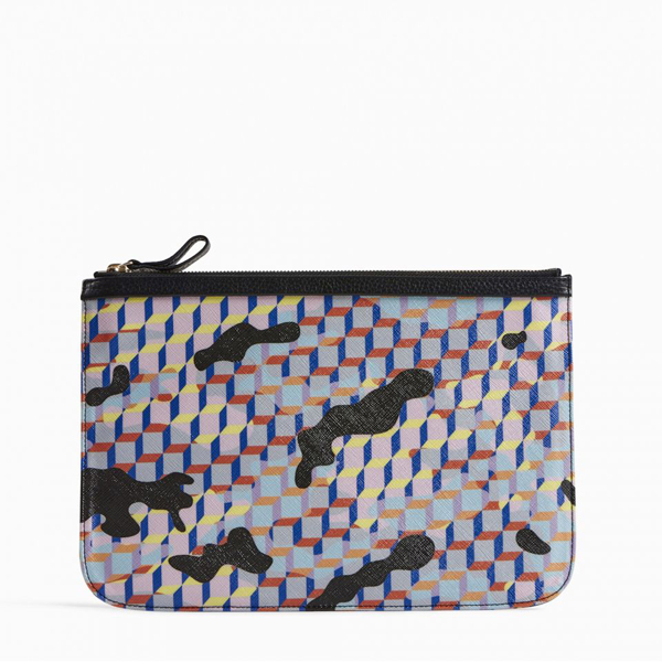 MULTICO BLACK PIERRE HARDY CAMOCUBE LARGE POUCH Factory Outlet