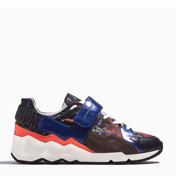 Orange & brown PIERRE HARDY COMET SNEAKERS Factory Outlet