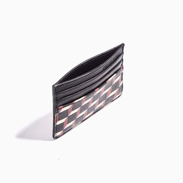 Black & red PIERRE HARDY PERSPECTIVE CUBE CARD CASE Factory Outlet