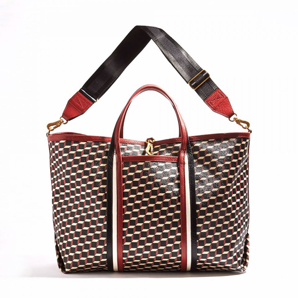 RED PIERRE HARDY POLYCUBE TOTE Factory Outlet