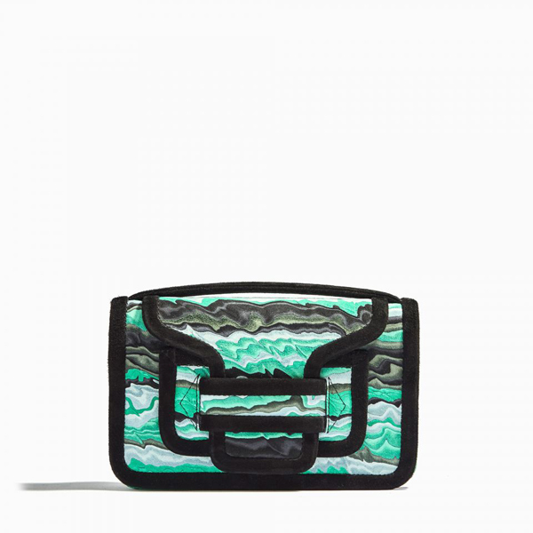 GREEN PIERRE HARDY ALPHA CROSS BODY CLUTCH Factory Outlet