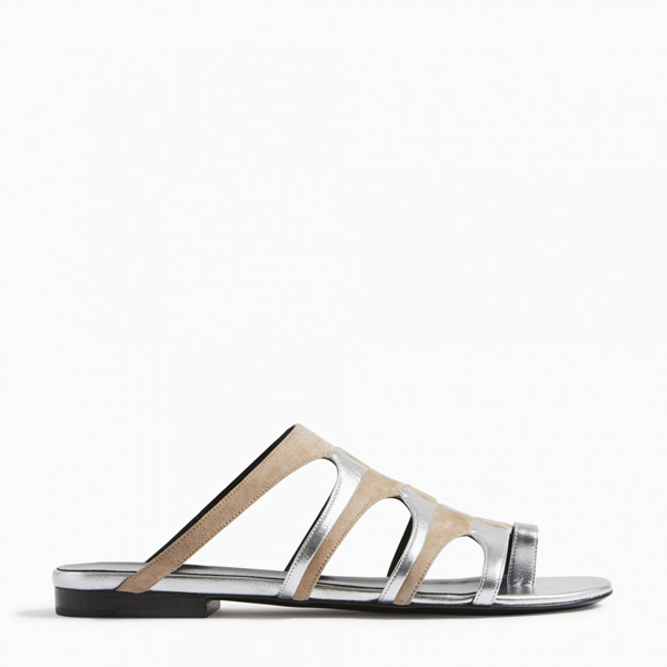 NUDE SILVER PIERRE HARDY PARADE SANDAL Factory Outlet
