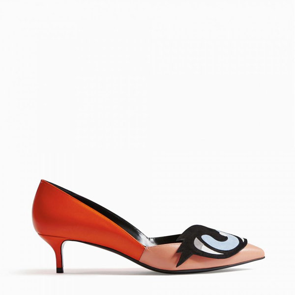 Pink Orange PIERRE HARDY OH ROY PUMP Factory Outlet