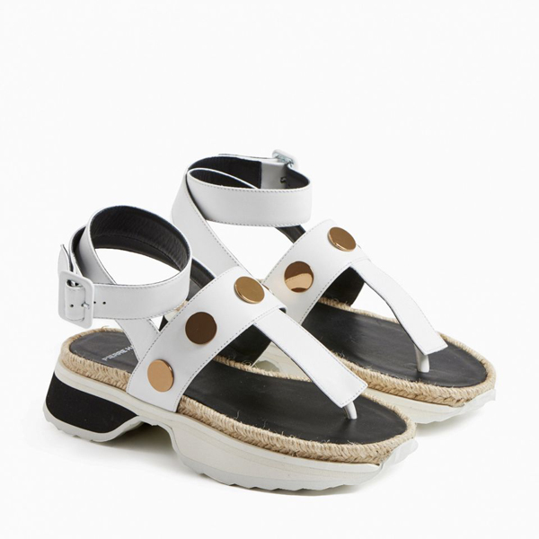 White PIERRE HARDY PENNY SANDAL Factory Outlet