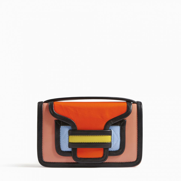 pink orange PIERRE HARDY ALPHA CLUTCH Factory Outlet