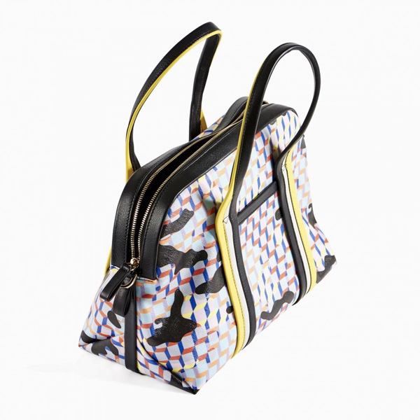 Yellow blue black PIERRE HARDY RALLY HANDBAG Factory Outlet