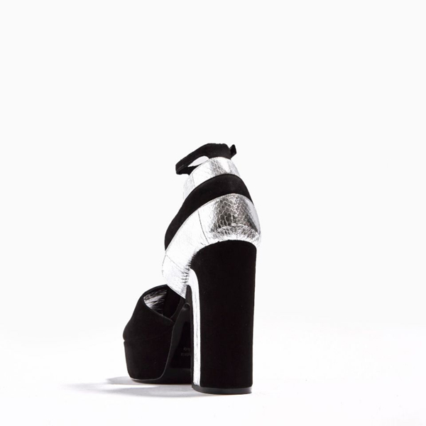 BLACK SILVER PIERRE HARDY ROXY SANDAL Factory Outlet