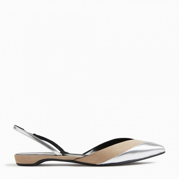 NUDE SILVER PIERRE HARDY PIXIE SLINGBACK Factory Outlet