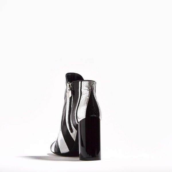SILVER BLACK PIERRE HARDY BELLE ANKLE BOOT Factory Outlet
