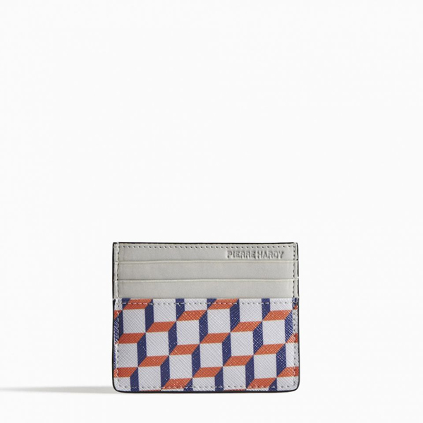 Blue, red & white PIERRE HARDY PERSPECTIVE CUBE CARD CASE Factory Outlet