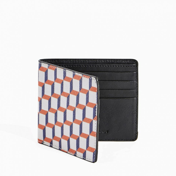 White and blue PIERRE HARDY PERSPECTIVE CUBE WALLET Outlet Online