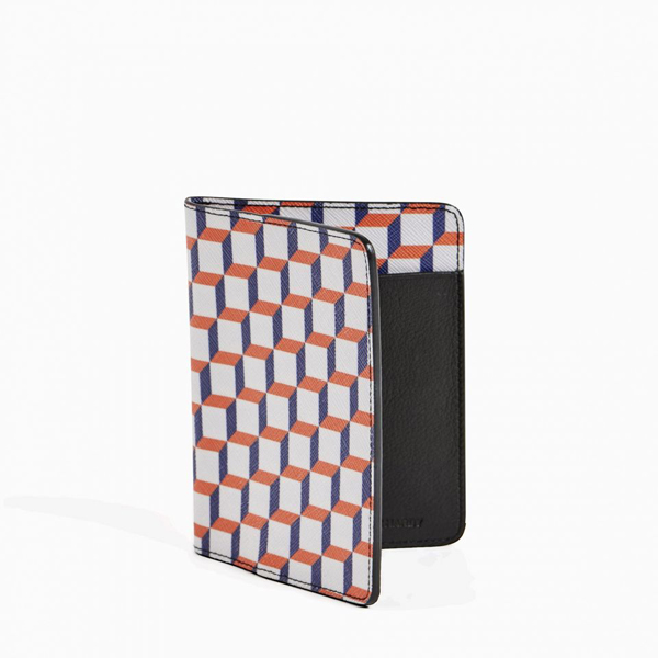 White and blue PIERRE HARDY PERSPECTIVE CUBE PASSPORT HOLDER Outlet Online