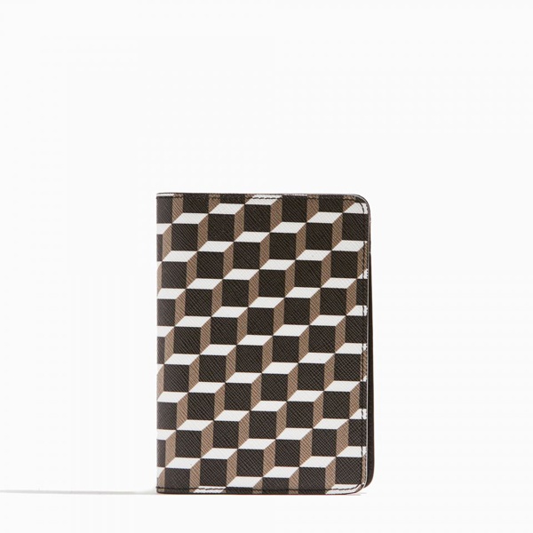 black & white PIERRE HARDY CUBE PERSPECTIVE PASSPORT COVER Outlet Online