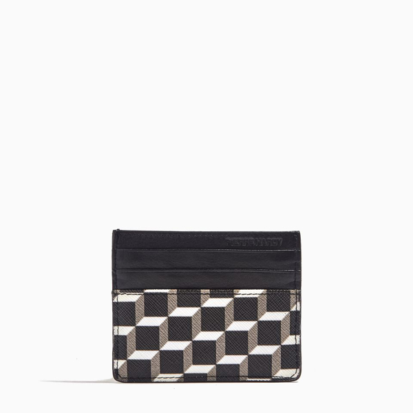 Black & white  PIERRE HARDY PERSPECTIVE CUBE CALF CARD CASE Outlet Online