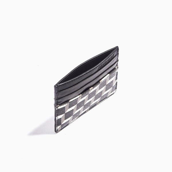 Black & white  PIERRE HARDY PERSPECTIVE CUBE CALF CARD CASE Factory Outlet