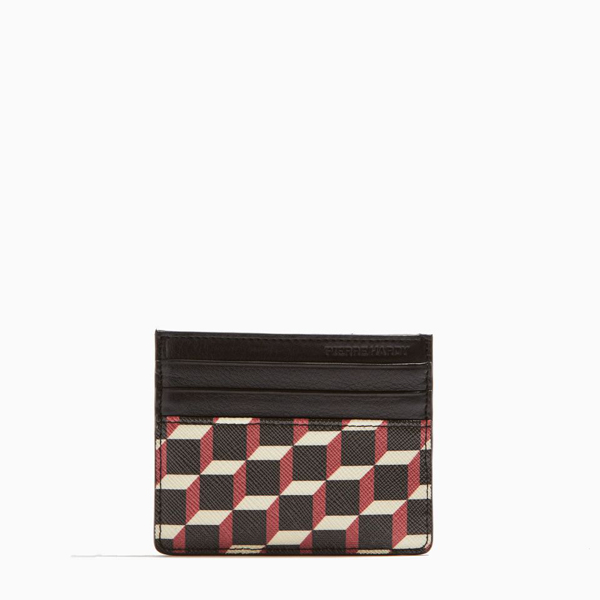 Black & red PIERRE HARDY PERSPECTIVE CUBE CARD CASE Outlet Online