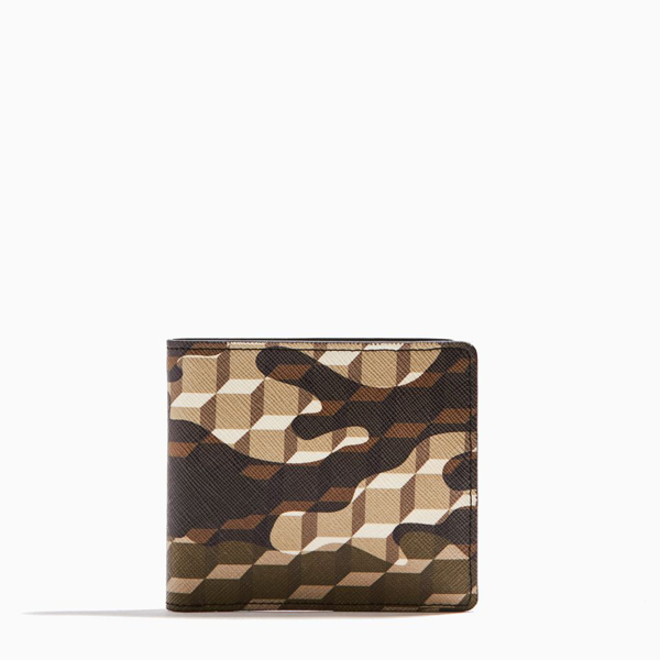 Kaki PIERRE HARDY CANVAS CAMOCUBE WALLET Factory Outlet