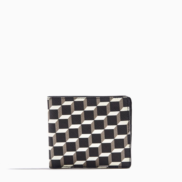 Black & white PIERRE HARDY CUBE PERSPECTIVE WALLET Factory Outlet