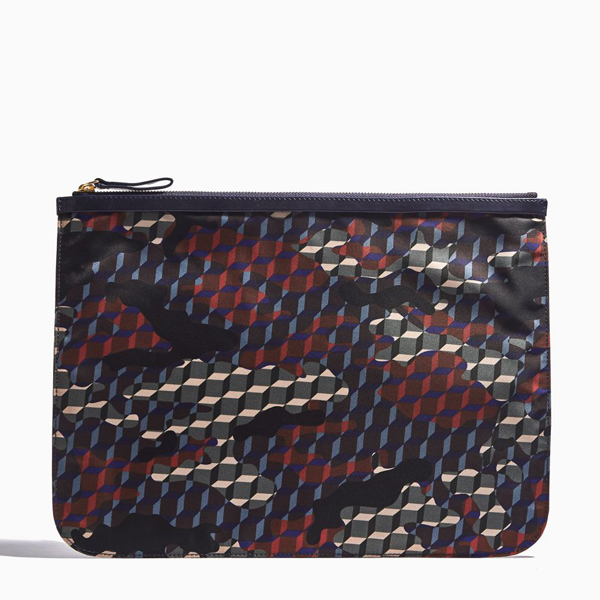 Navy PIERRE HARDY NYLON CAMOCUBE EXTRA LARGE POUCH Outlet Online