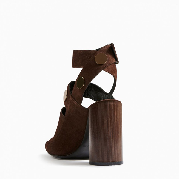 METAL BROWN PIERRE HARDY PENNY SANDAL Factory Outlet
