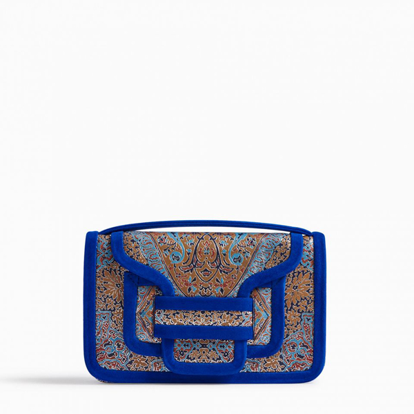 MULTICO BLUE PIERRE HARDY ALPHA CLUTCH Factory Outlet