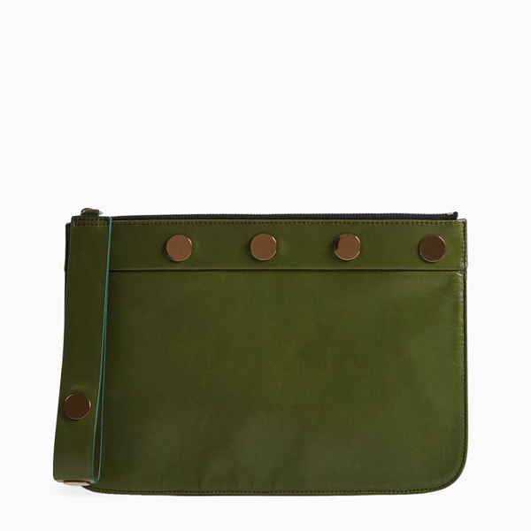 Green PIERRE HARDY PENNY POUCH Factory Outlet