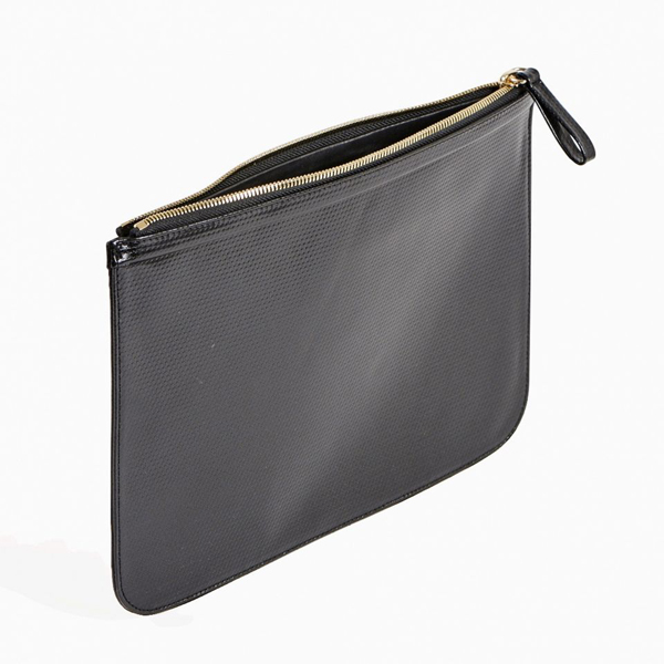 Black PIERRE HARDY PERSPECTIVE CUBE STRIPES EXTRA LARGE POUCH Factory Outlet