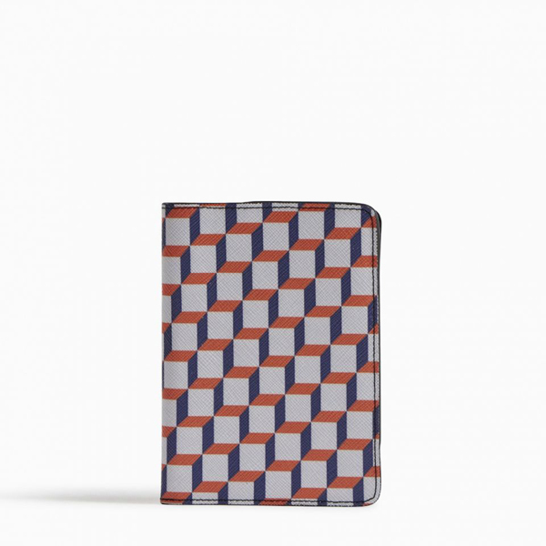 White blue PIERRE HARDY PERSPECTIVE CUBE PASSPORT HOLDER Outlet Online