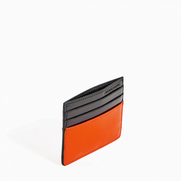 Black red PIERRE HARDY PERSPECTIVE CUBE CARD CASE Outlet Online