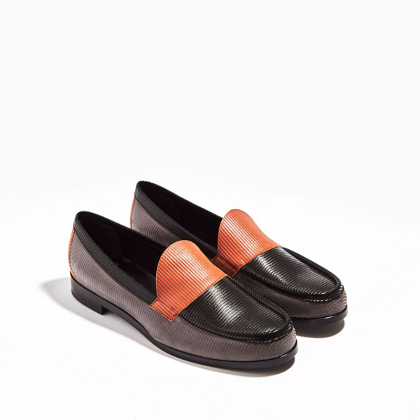 Grey, black & orange  PIERRE HARDY HARDY LOAFER Factory Outlet