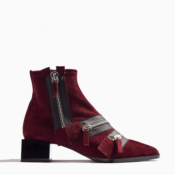 BURGUNDY PIERRE HARDY LOU ANKLE BOOT Factory Outlet