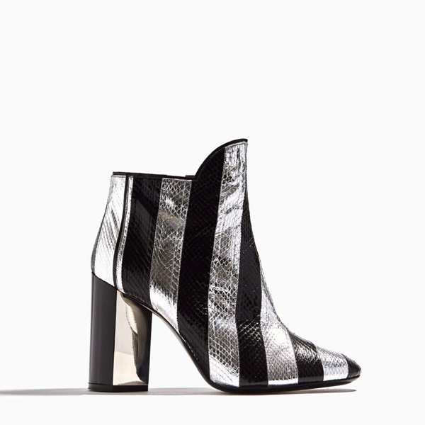 SILVER BLACK PIERRE HARDY BELLE ANKLE BOOT Outlet Online