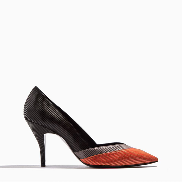 grey, orange & black PIERRE HARDY ZIG ZAG PUMP Outlet Online