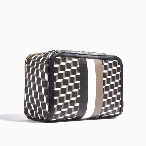 BLACK PIERRE HARDY PERSPECTIVE CUBE STRIPES DOP KIT Factory Outlet
